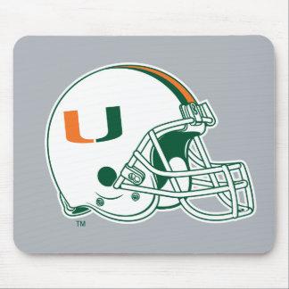 Universidad de la marca del casco de Miami Mousepad