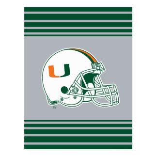 Universidad de la marca del casco de Miami Tarjetas Postales