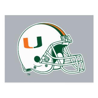 Universidad de la marca del casco de Miami Postales