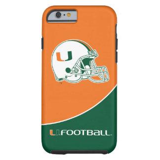 Universidad de la marca del fútbol de Miami Funda De iPhone 6 Tough
