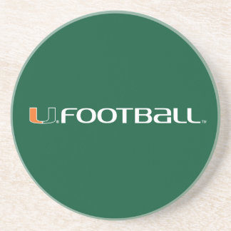 Universidad de la marca del fútbol de Miami Posavasos Manualidades