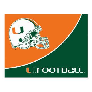 Universidad de la marca del fútbol de Miami Tarjetas Postales