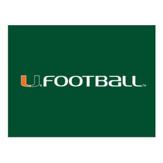 Universidad de la marca del fútbol de Miami Postales