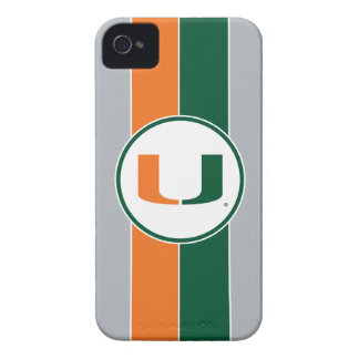Universidad de la marca primaria de Miami iPhone 4 Funda