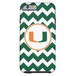 Universidad de la marca primaria de Miami Funda De iPhone 6 Tough