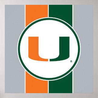 Universidad de la marca primaria de Miami Posters