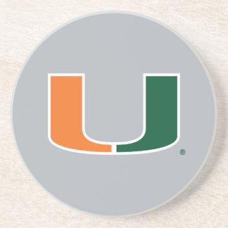 Universidad de la marca primaria de Miami Posavasos Para Bebidas