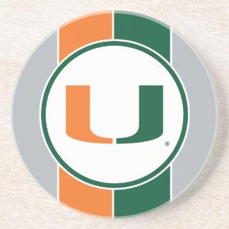 Universidad de la marca primaria de Miami Posavasos Cerveza