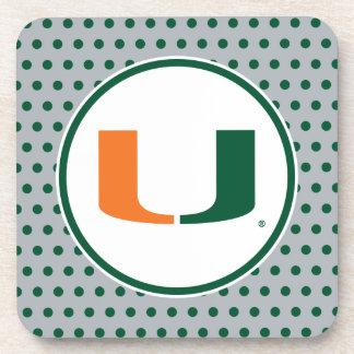 Universidad de la marca primaria de Miami Posavasos De Bebidas