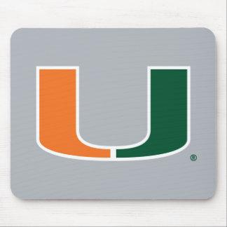 Universidad de la marca primaria de Miami Mouse Pads