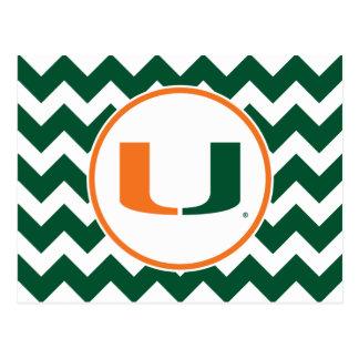 Universidad de la marca primaria de Miami Postales
