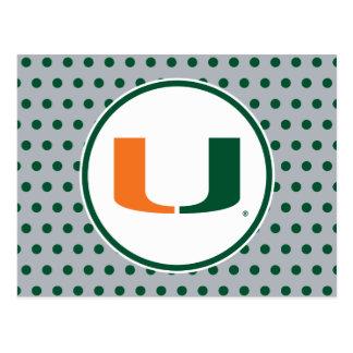 Universidad de la marca primaria de Miami Tarjetas Postales