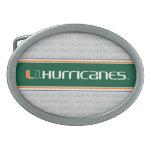 Universidad de la marca secundaria de los huracane hebilla cinturon