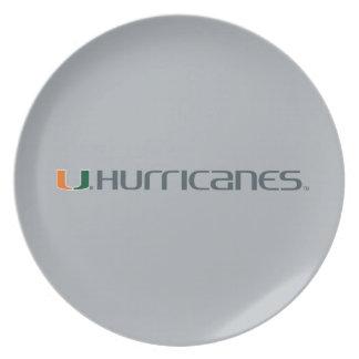 Universidad de la marca secundaria de los huracane plato de comida
