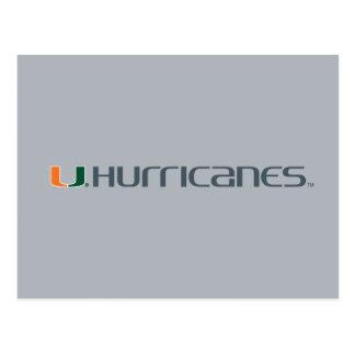 Universidad de la marca secundaria de los huracane tarjetas postales