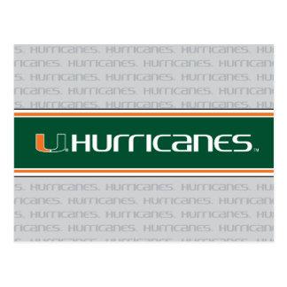 Universidad de la marca secundaria de los huracane postales