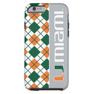 Universidad de la marca secundaria de Miami Miami Funda De iPhone 6 Tough