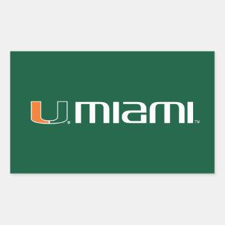 Universidad de la marca secundaria de Miami Miami Pegatina