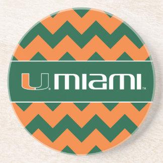 Universidad de la marca secundaria de Miami Miami Posavasos Cerveza