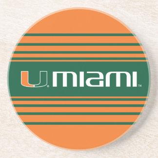 Universidad de la marca secundaria de Miami Miami Posavasos Diseño