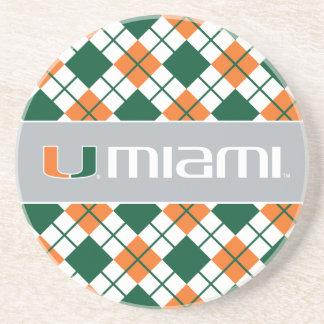 Universidad de la marca secundaria de Miami Miami Posavasos Personalizados