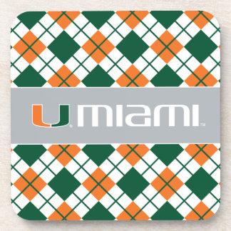 Universidad de la marca secundaria de Miami Miami Posavasos