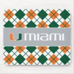 Universidad de la marca secundaria de Miami Miami Tapete De Ratón