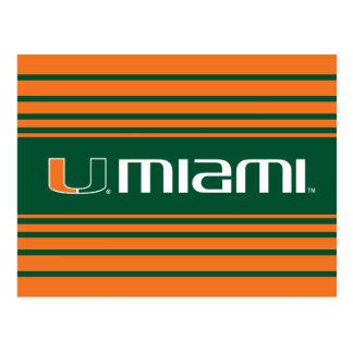 Universidad de la marca secundaria de Miami Miami Tarjetas Postales