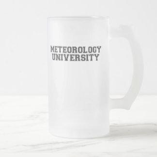 Universidad de la meteorología taza de cristal