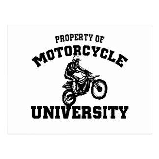 Universidad de la motocicleta tarjeta postal