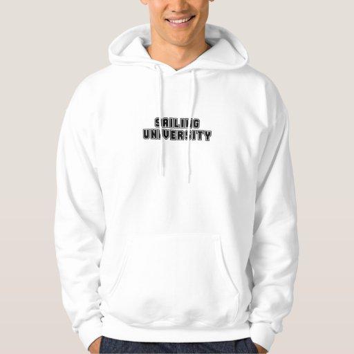Universidad de la navegación suéter con capucha