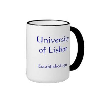Universidad de la taza de café de Lisboa Portugal