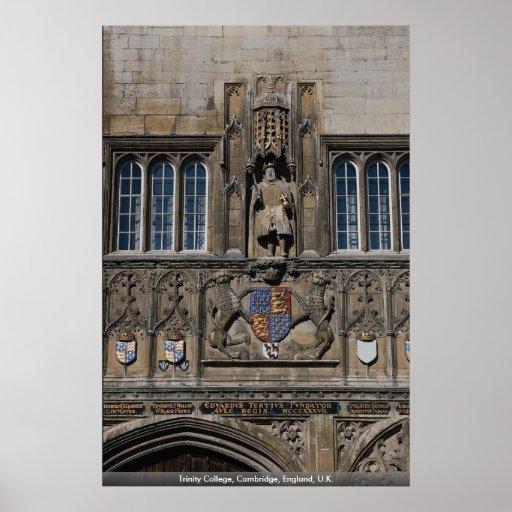 Universidad de la trinidad, Cambridge, Inglaterra, Póster