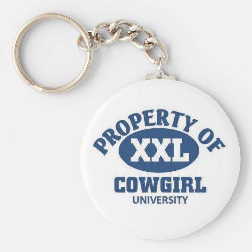 Universidad de la vaquera llavero personalizado
