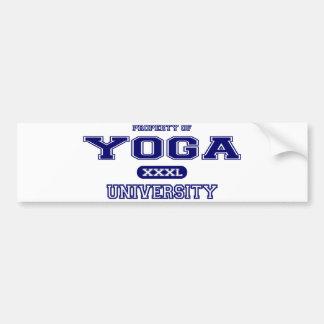 Universidad de la yoga pegatina para auto