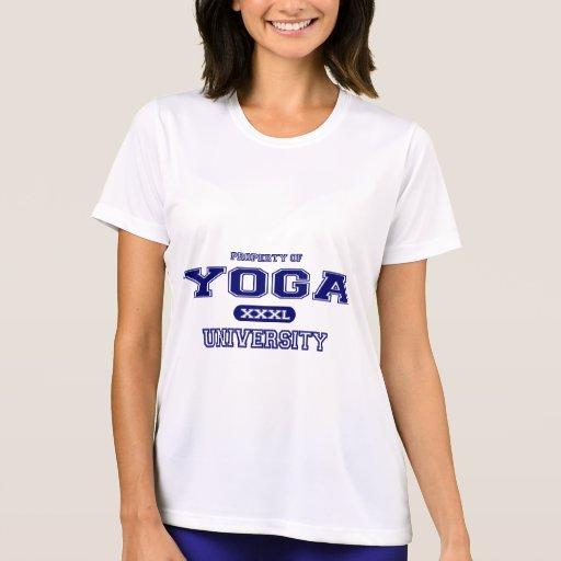 Universidad de la yoga camisetas