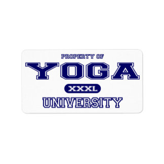Universidad de la yoga etiquetas de dirección