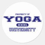 Universidad de la yoga etiqueta redonda