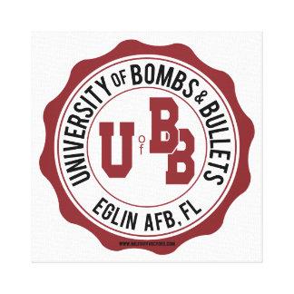 Universidad de las bombas y de las balas Eglin Impresión En Tela