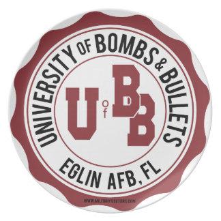 Universidad de las bombas y de las balas Eglin Plato De Comida