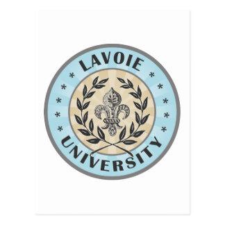 Universidad de Lavoi azul clara Postal