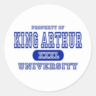 Universidad de Ling Arturo Pegatina Redonda