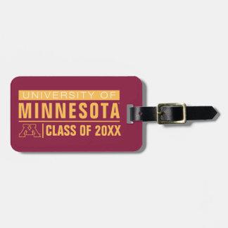 Universidad de los alumnos de Minnesota Etiqueta De Maleta