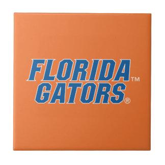 Universidad de los cocodrilos de la Florida Azulejo Cuadrado Pequeño