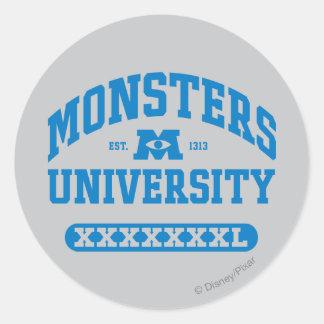 Universidad de los monstruos - Est. 1313 Pegatina Redonda