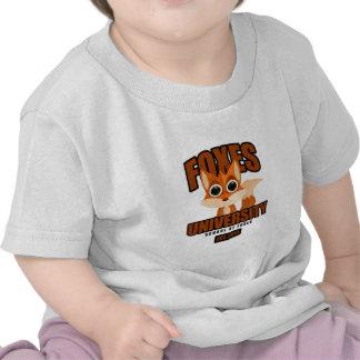 Universidad de los zorros camisetas