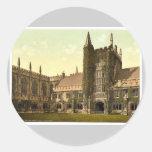 Universidad de Magdalen, la torre y claustros, O d Etiqueta Redonda