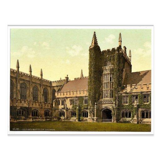 Universidad de Magdalen, la torre y claustros, O Postal