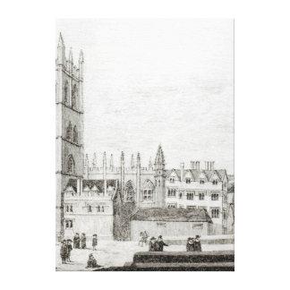 Universidad de Magdalen, Oxford en el siglo XVII Impresión En Lienzo