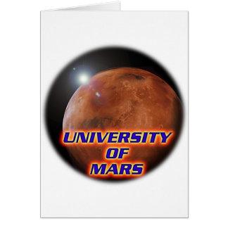 Universidad de Marte Tarjeta De Felicitación